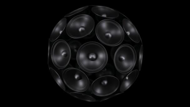 hlasitý zvukový systém. Izolované na černém pozadí