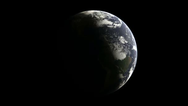 Abstraktní koule v prostoru. obchodní abstraktní. smyčky animace