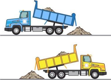Dump Truck vector eps file