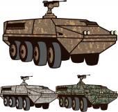 Personnel carrier Camo vector