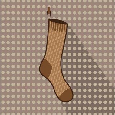 Brown sock hanging