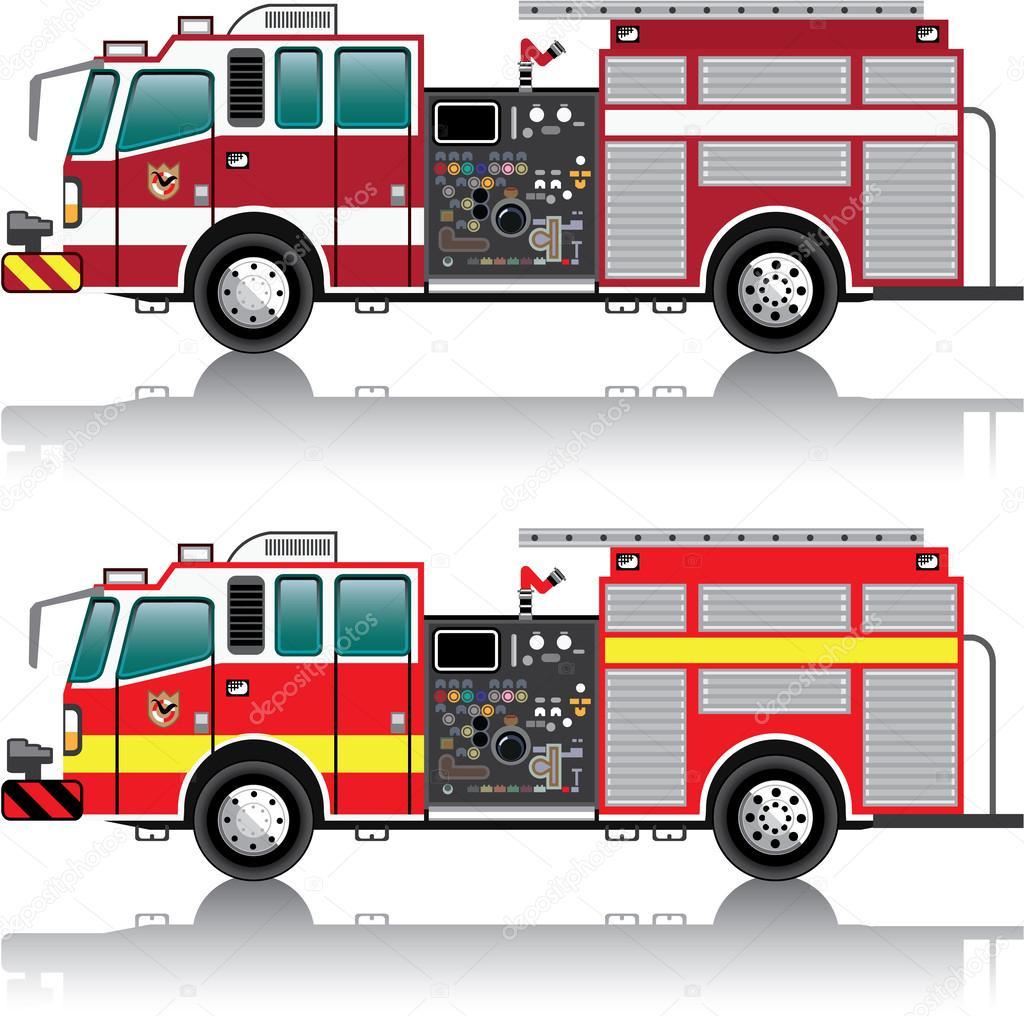 vector de firetruck — Vector de stock © anton_novik #62029981