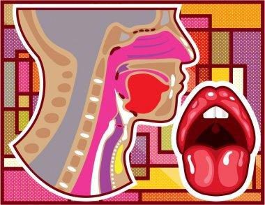 Abstract Artwork Throat n Nose diagram