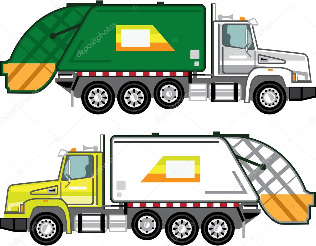 garbage truck clip art stock vector anton novik 89070602 rh depositphotos com garbage truck cartoon clip art free trash truck clip art