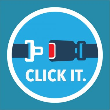 Click it. Period. Seat belt sign