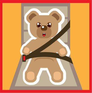 Teddy Bear buckle Up Vector
