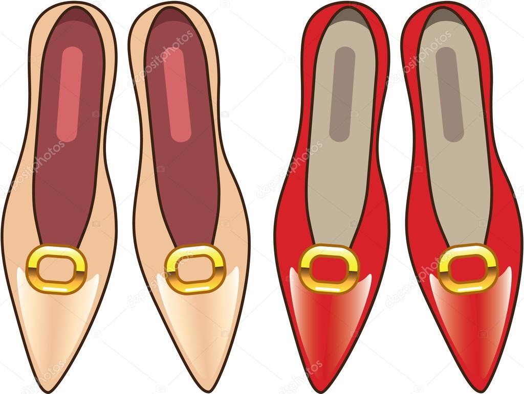 female shoes top view vector tan red stock vector anton novik rh depositphotos com Vector Heels Tennis Shoe Vector