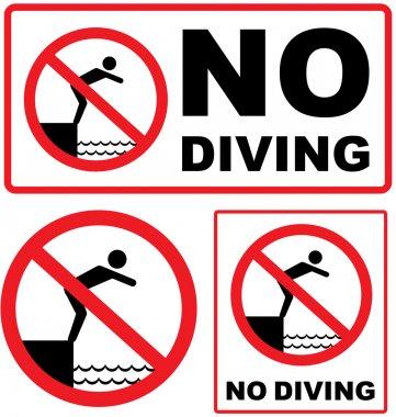 No Diving Sign vector