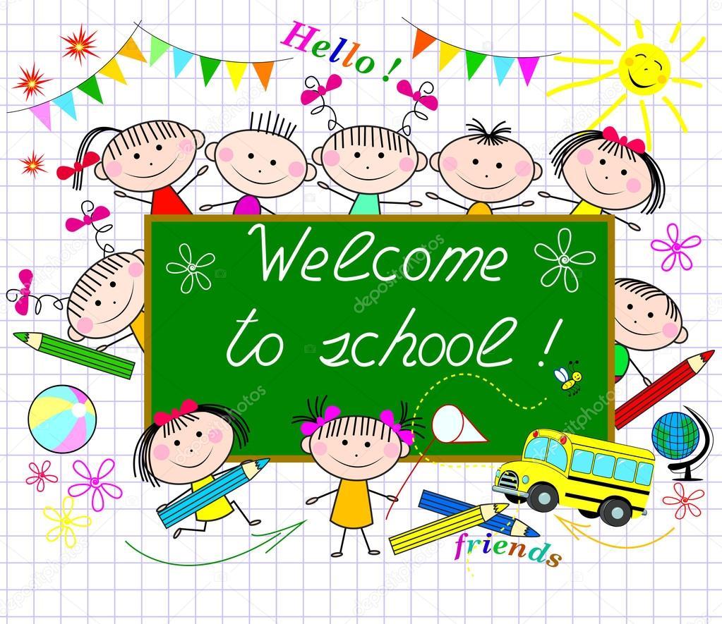 Bienvenidos a la escuela — Archivo Imágenes Vectoriales © liole ...