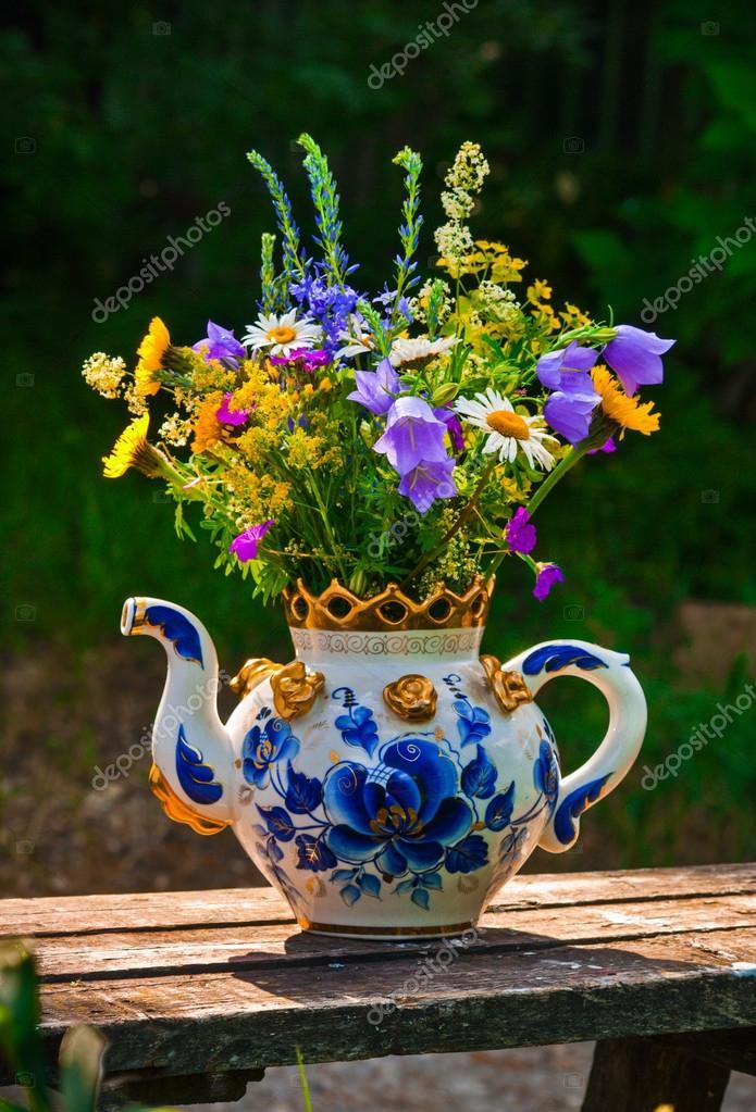 полевые цветы букет фото
