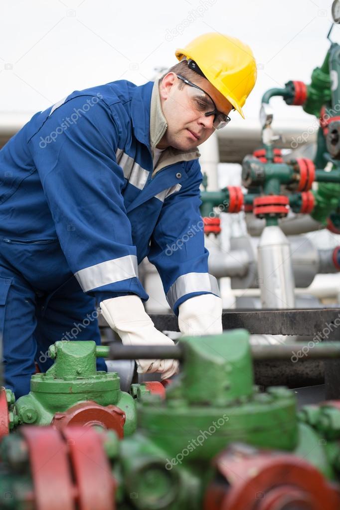 Gas Production Operator — Stock Photo © zorandim #62553669