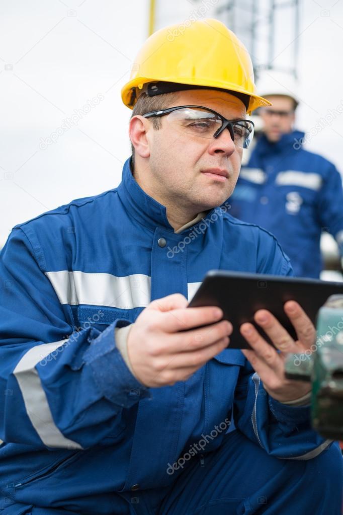 Gas Production Operator — Stock Photo © zorandim #62972333