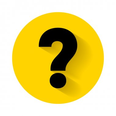 Question mark icon vector illustration