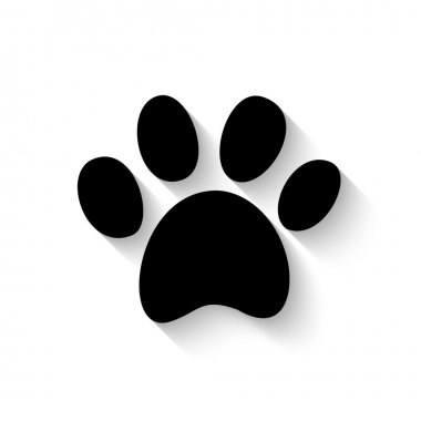 paw print with shadow