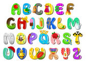 Fotografie Colorful children alphabet