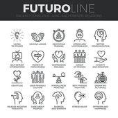 Vědomé živobytí ikony Set