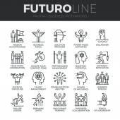 Obchodní disciplínu ikony Set