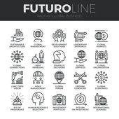 Globální obchodní ikony Set