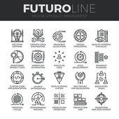 Soubor ikony řízení produktu