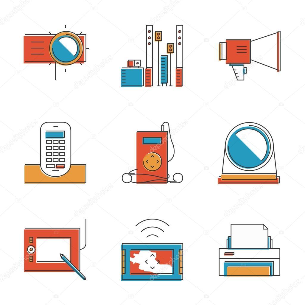 Elektronische Geräte Symbole — Stockvektor © bloomua #65028525