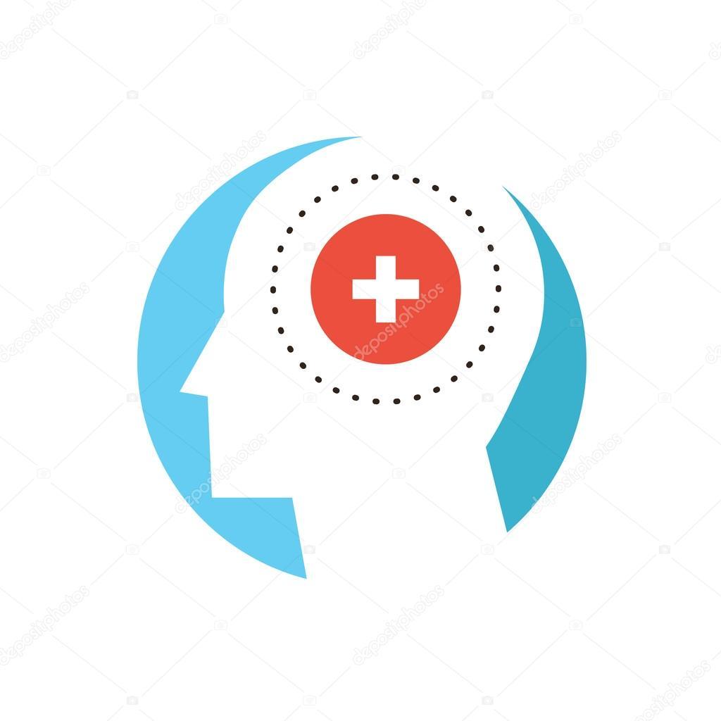 Mental Health Icon Concept Stock Vector