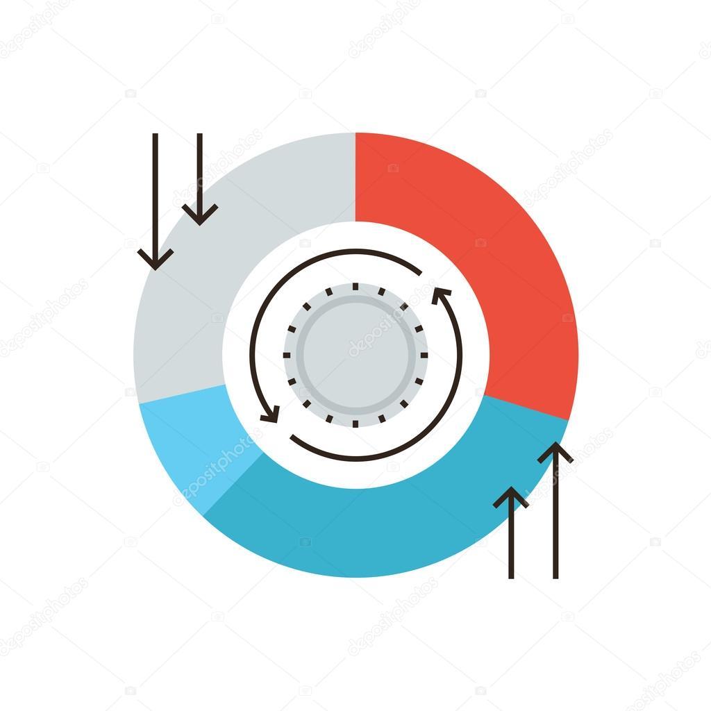 Cash flow chart icon — Stock Vector © bloomua #67729317