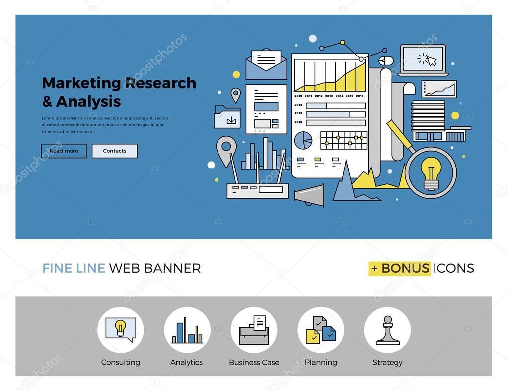 iconos de estrategia de marketing research — Vector de stock ...