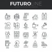Outdoor Recreation Icons Set