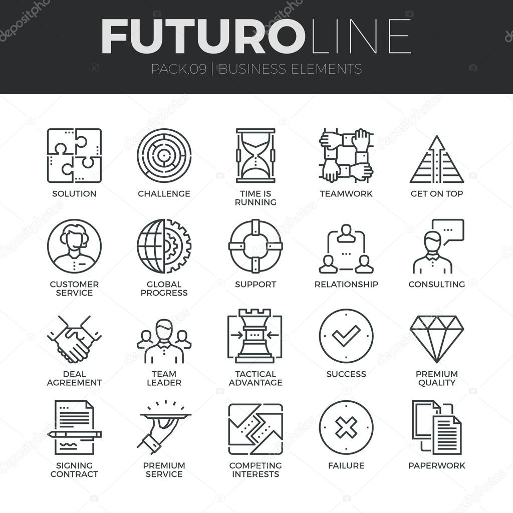 Business Elements  Icons Set