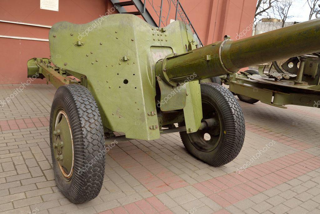 Anti-tank gun of the Second World War  — Stock Photo