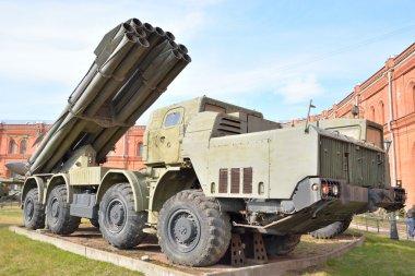 Fighting vehicle 9A52 300-mm multiple rocket launchers Smerch 9K58.