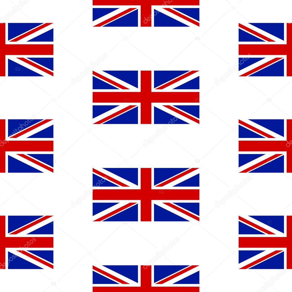 Bandera del Reino Unido sin fisuras patrón — Archivo Imágenes ...