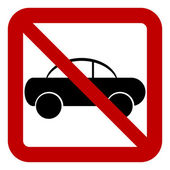 žádné auto znamení