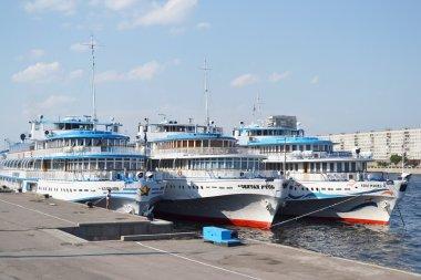 River cruise ships.