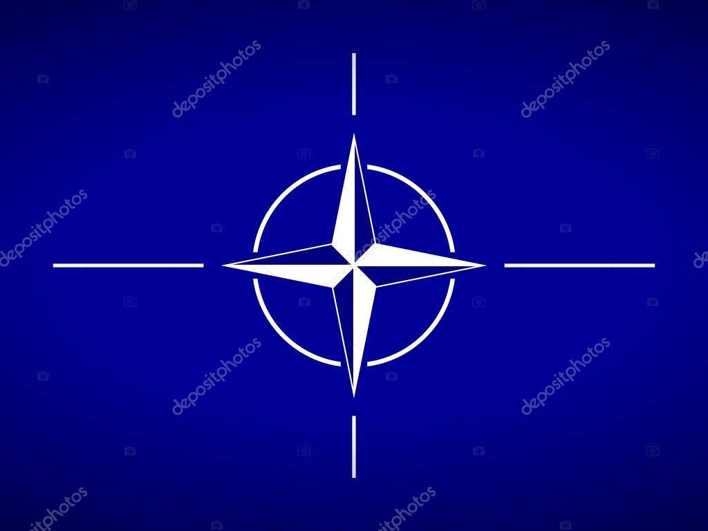 北大西洋条約機構の旗 — ストッ...