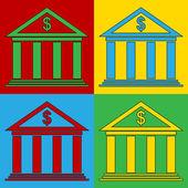 Pop-art banky piktogramy