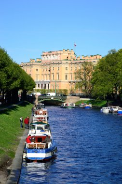 Griboyedov Canal and Mikhailovsky Castle (Engineers Castle).