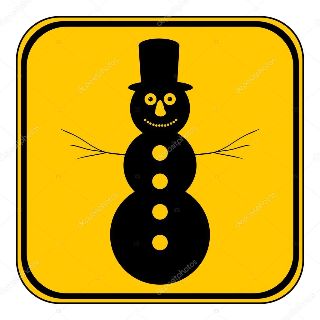botón de muñeco de nieve — Archivo Imágenes Vectoriales © konstsem ...