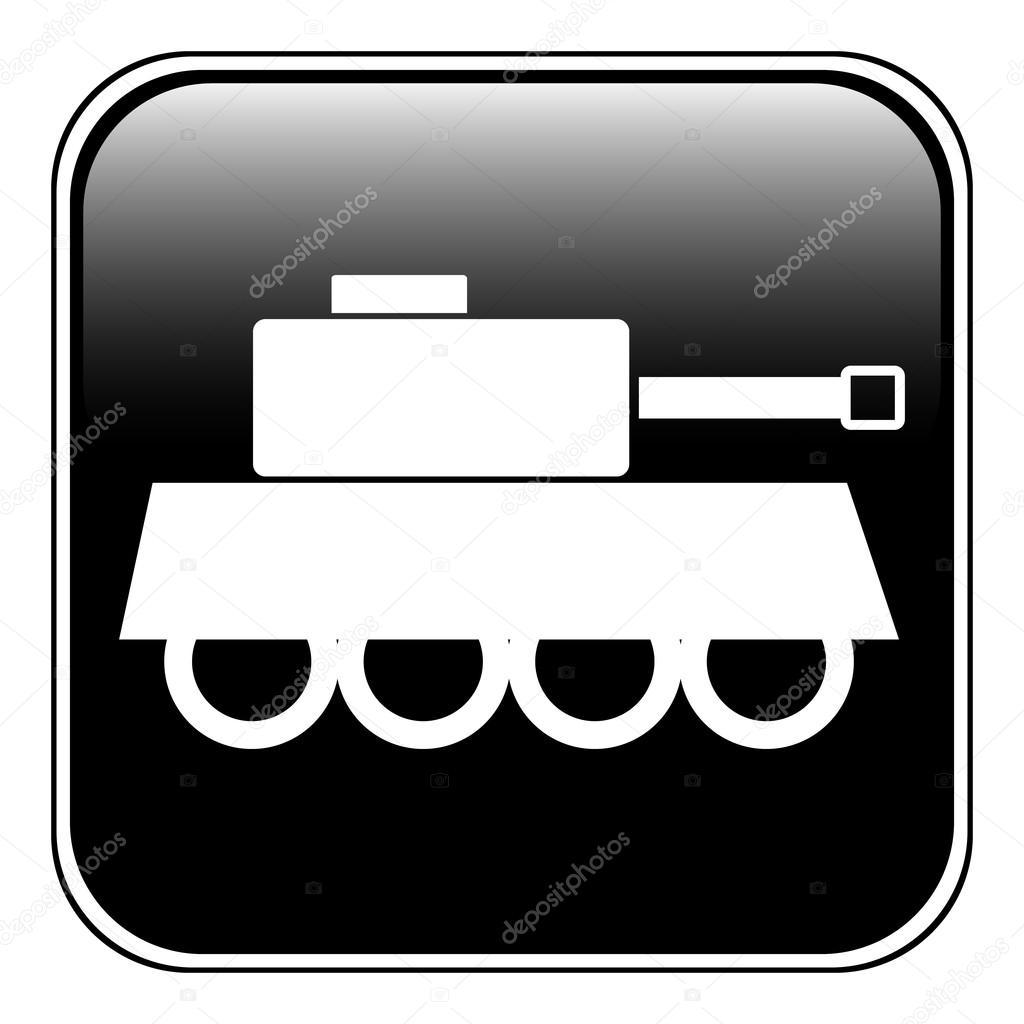 Картинка танка из символов