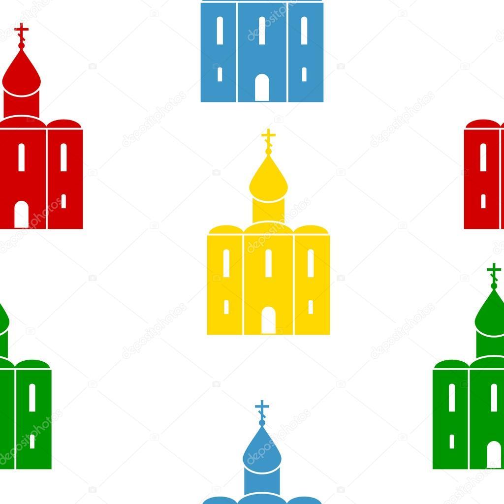 Iglesia ortodoxa de patrones sin fisuras — Vector de stock ...