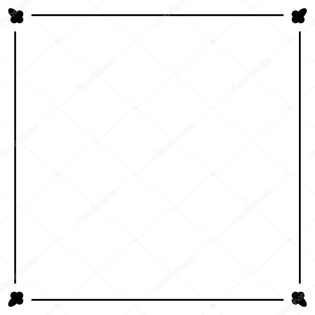 シンプルな装飾的な装飾的なフレーム — ストックベクター © konstsem