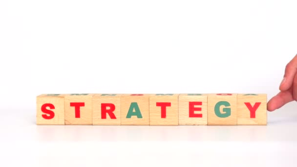 Strategy word comes out of letters on game cubes
