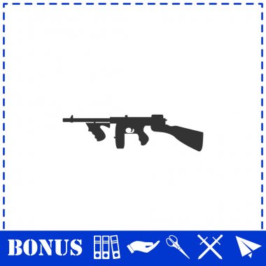 Automatic Rifle icon flat. Simple vector symbol and bonus icon icon