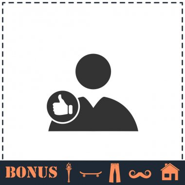 Avatar like icon flat. Simple vector symbol and bonus icon icon