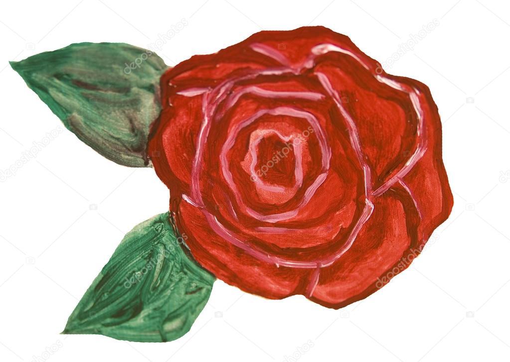 Red Rose Painting Stock Photo C Afonskaya 91121092