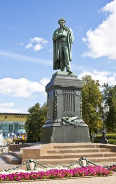 Moscow, monument to Pushkin