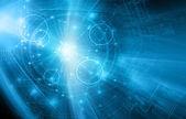 Nejlepší internetové koncepce globální podnikání. Technologické zázemí. Paprsky symboly Wi-Fi, Internet, televize, mobilní a satelitní komunikace