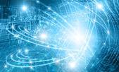 Abstraktní modré pozadí. Technologické zázemí, z řady nejlepší koncept globální podnikání