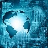 Fényképek Legjobb Internet fogalma, a globális üzleti. Globe, izzó vonalak a technológiai háttér. Elektronika, Wi-Fi-vel, sugarak, szimbólumok, Internet, televízió, mobil és műholdas hírközlési