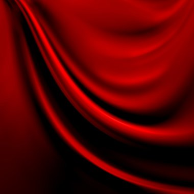 Abstract red background cloth or liquid wave illustration of wavy folds of silk texture satin or velvet material or red luxurious Christmas background